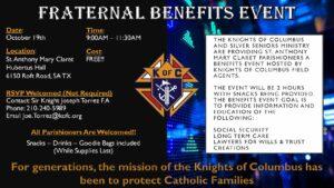 Fraternal Benefits Event @ Hubertus Hall